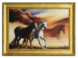 Olbild-Olbilder-Gemaelde-Bilder-Bild-Handgemalt-Ol-mit-Rahmen-Barock-Kunst-96500