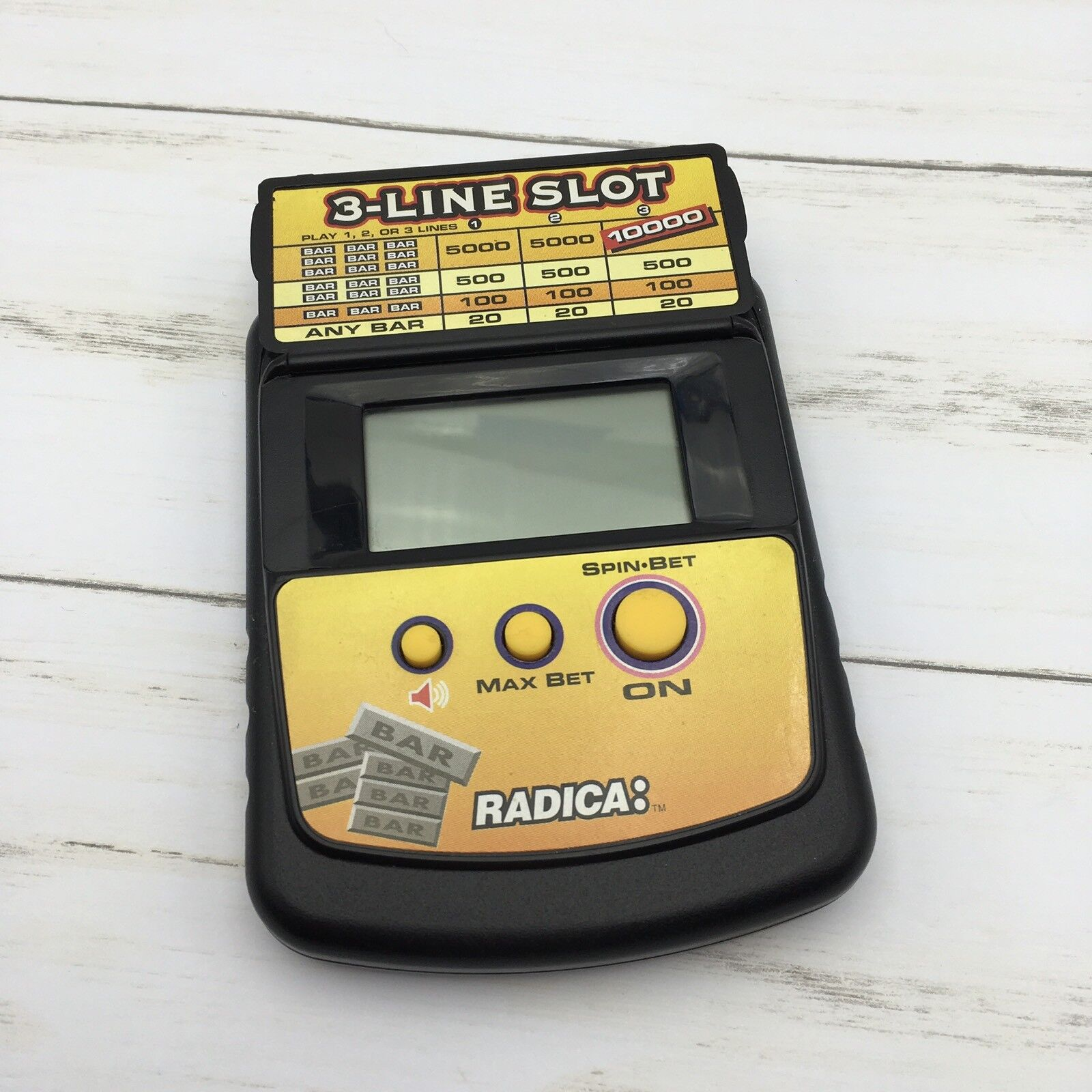 Radica 3-Line Slot Electronic Handheld Model 2871 Casino Game