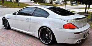 Unpainted BMW 2004-2008 E63 6-series coupe Rear trunk spoiler M6 ...