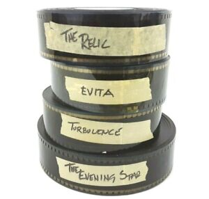 Four Pack 1996 1997 Vintage 35mm Movie Trailers EVITA  The Relic Projector Floor