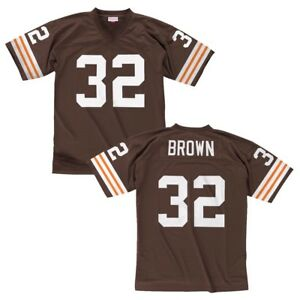 san francisco 2273f d20e3 Details about Jim Brown 1963 Clveland Browns Mitchell & Ness Home Brown  Legacy Jersey Men's