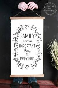 Wood-amp-Canvas-Wall-Print-Family-Is-Everything-Farmhouse-Decor-Wall-Art-Hanging
