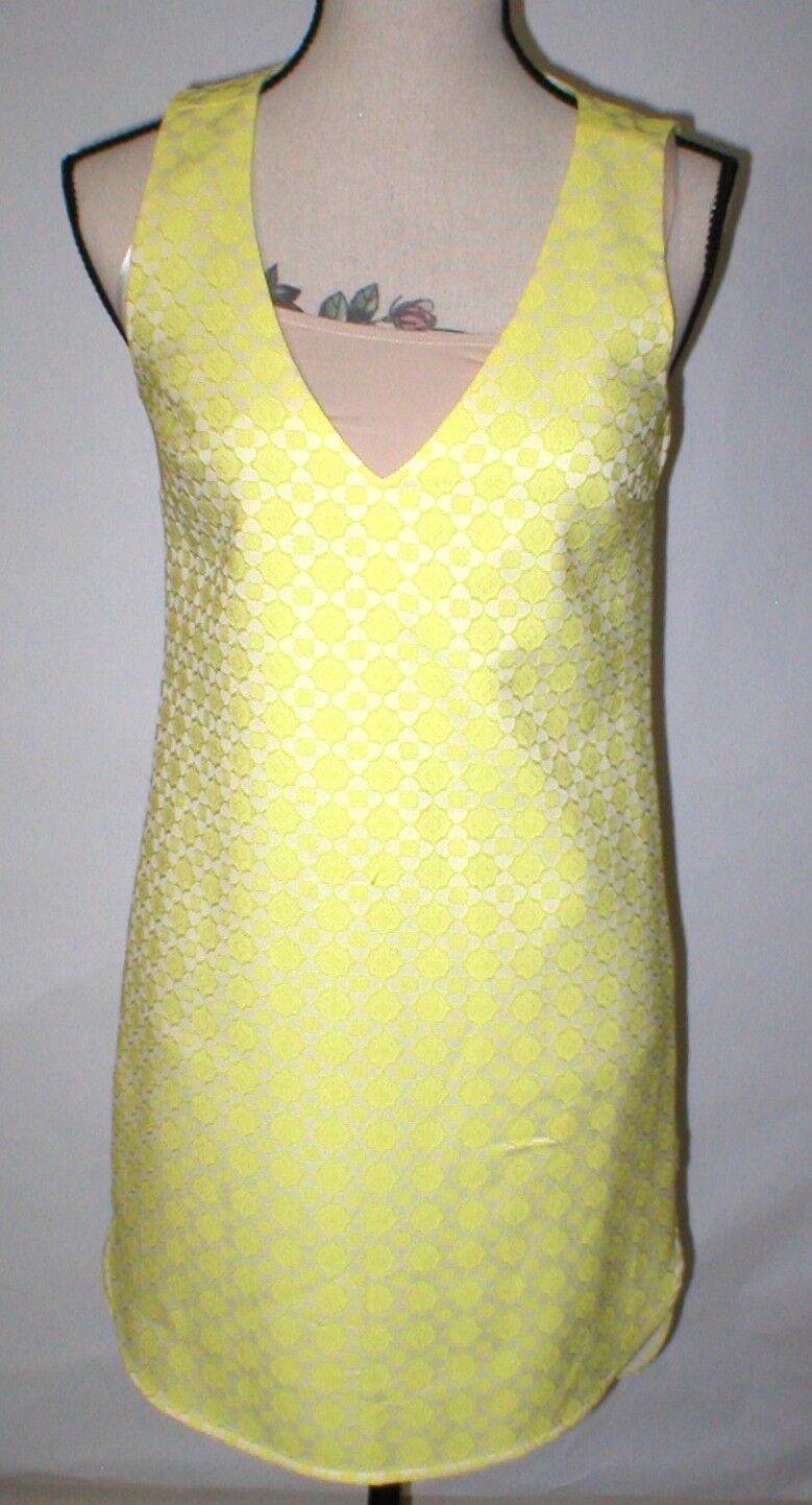 New damen Piperlime Collection Dress Tank Sleeveless Gelb Shift Shirt XS hilo