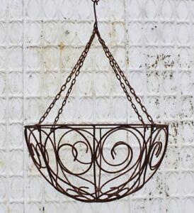 Xlg Wrought Iron Hanging Basket Huge