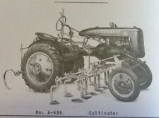 Farmall A A 134 1 Row A 435 4 Row Hand Lift Cultivator Owners Parts Manual Ih