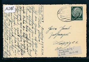 12318) Bahnpost Ovalstempel Naumburg-saalfeld Z.422, Carte 1939-afficher Le Titre D'origine Avoir à La Fois La Qualité De TéNacité Et De Dureté