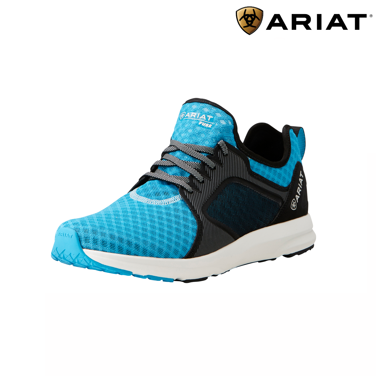 Ariat Mens Fuse Trainers - Highlighter Blau Mesh  FREE UK Shipping