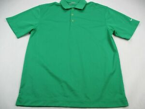 Nike-Golf-DriFit-Mens-Polo-Shirt-Adult-Large-Green-Solid-Short-Sleeve-Activewear