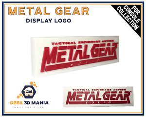 METAL-GEAR-SOLID-Display-Logo-pour-Collection-de-Jeux-Videos-Retro-Gaming-Geek