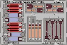 Eduard 1/32 Seat Belts France WWI STEEL # 32889