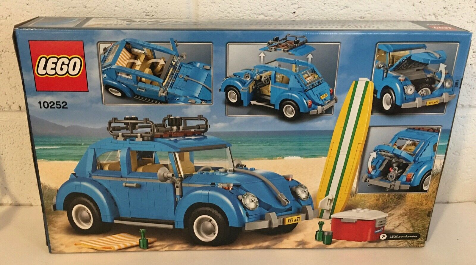 LEGO Creator Expert Volkswagen Beetle 10252 Bldg.Kit NEW in factory sealed box