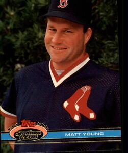 1991 Stadium Club Baseball #426 Matt Young RC Error 83T as Rookie Card