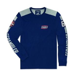 Ducati pointés Hommes Chemise manches longues Flat Track Blue 98769724