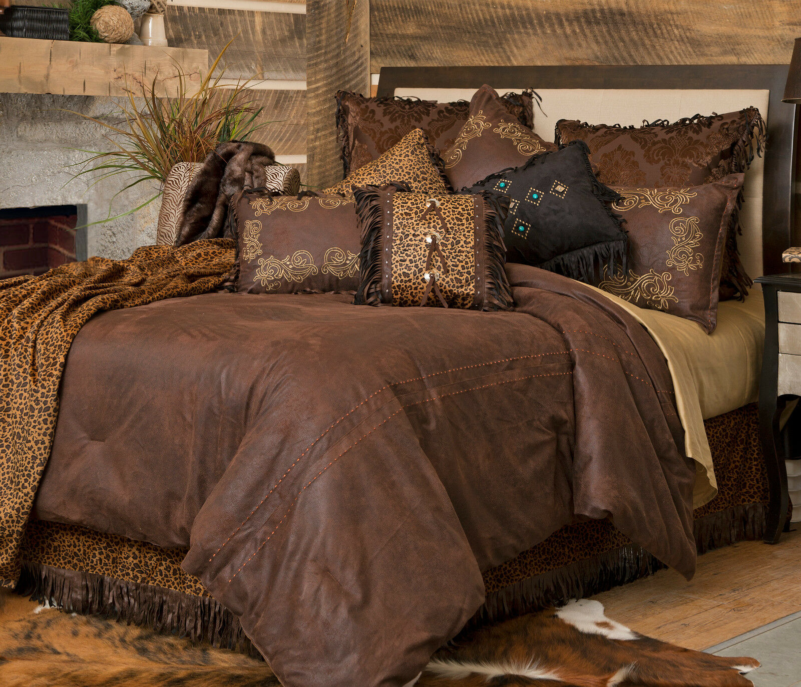 Gold Rush 5 Piece Comforter Bedding Set with  Drapes Option - FREE SHIPPING