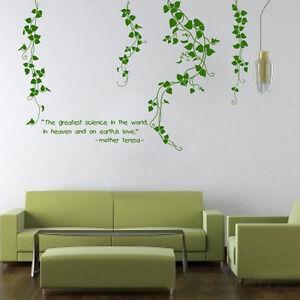 Flower Vine Living Room Mural Decor Removable Art Vinyl