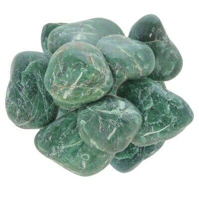 "Grade 1 1/"" to 1.5/"" Avg. Medium 3 lbs Green Jade Tumbled Stones"