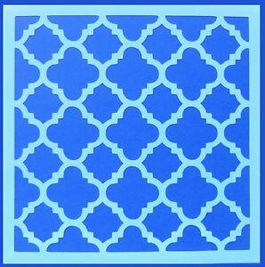 Flexible Stencil *MOROCCAN DESIGN # 2* Tile Pattern Painting Crafts 20cm x 20cm