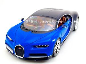 bugatti chiron bleu / noir 1/18 burago | ebay
