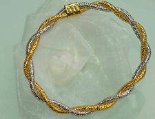 ARMBAND 750 GOLD BICOLOR  echt 100 % 750 GOLD elastisch  der absolute CLOU  NEU