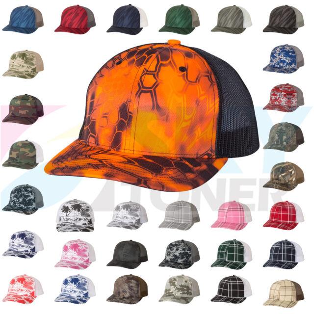 e0af0ea55 New! Richardson Camo Patterned Trucker Ball Cap Meshback Hat Snapback Cap  112P