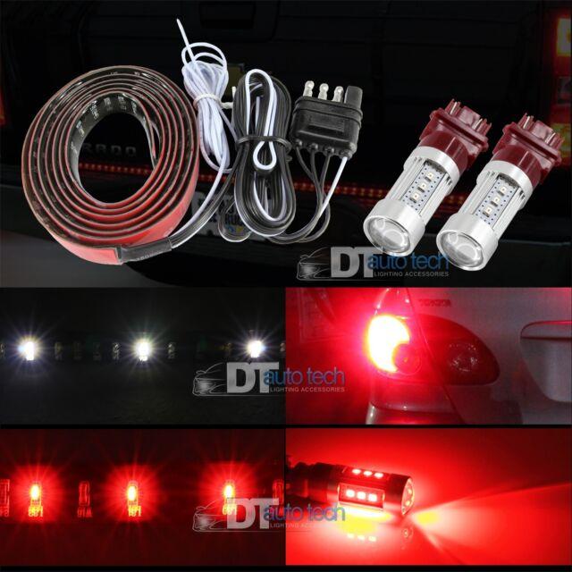 """60"""" 5-Function LED Strip Tailgate Bar Brake Signal Light Truck+LED Brake light"""