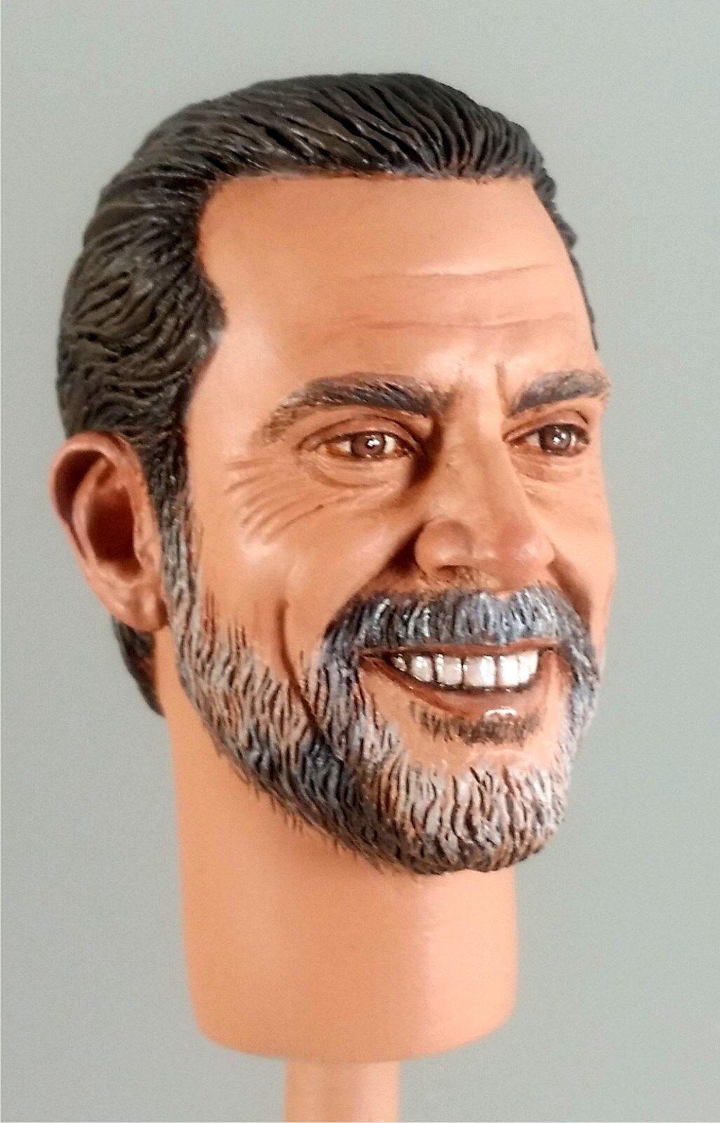 1:6 1:6 1:6 Custom Head of Jeffrey Dean Morgan as Negan Version 4 from The Walking Dead 6a4a01