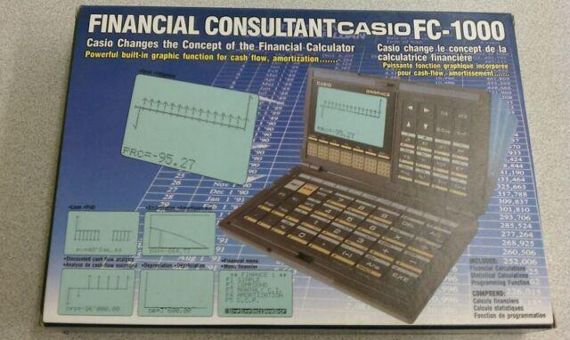 Casio Vintage FC-1000 Personal Financial Consultant Programmable Calculator
