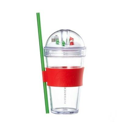 Starbucks Korea 2018 Christmas Holiday Tree Glass Coldcup Tumbler 473ml+Tracking