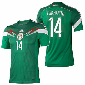 new products bdb1b f4502 Details about ADIDAS CHICHARITO MEXICO AUTHENTIC ADIZERO HOME JERSEY FIFA  WORLD CUP 2014.