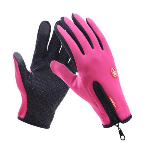 Anti-slip Touch Screen Gloves Windproof Waterproof Thermal Ladies Mens UK Seller