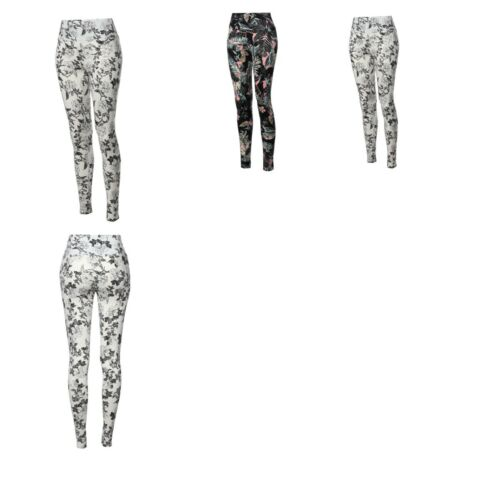 FashionOutfit Women/'s High Waist Tummy Control Tropical Print Yoga Pants