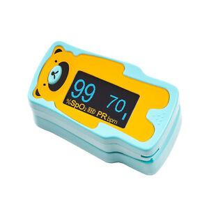 Kernmed-OLED-Finger-Pulsoximeter-A310C-fuer-Kinder-Alarm-Puls-Oxymeter
