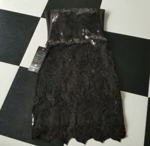 bebe-rare-dress-sequin-black-size-small