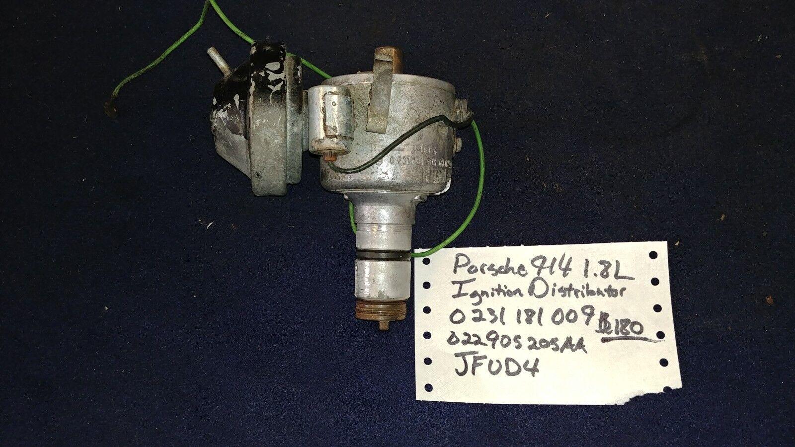Porsche 914 Bosch Ignition Distributor 0231181009 Jfud4 Ebay Wiring Norton Secured Powered By Verisign