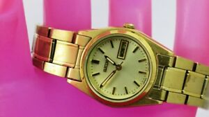 K18-SEIKO-Analog-Watch-for-Women-from-USA-Gold-Tone