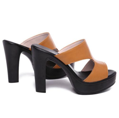 Fashion High Block Heels Women/'s Platform Wedge Sandals Open Toe Slippers Summer