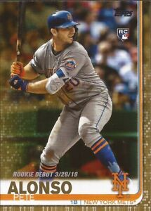 PETE-ALONSO-2019-Topps-Update-US198-Rookie-Debut-Gold-861-2019-New-York-Mets