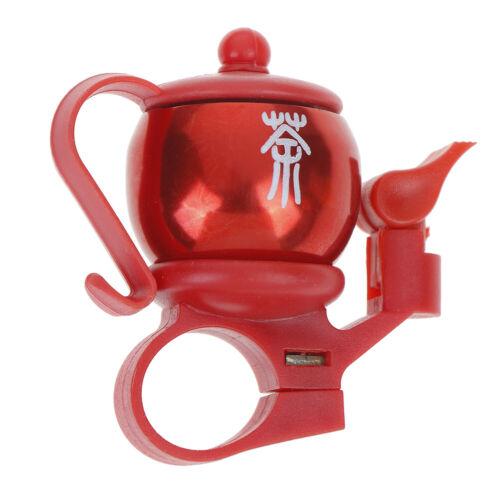 Teapot Type Aluminum Alloy Bike Bicycle Handlebar Ring Loud Horn Barbell 4 Co Jz