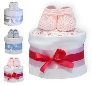 Baby-Nappy-Cake-Choice-of-Colours-One-Tier-Gift-Wrapped-Cellophane-Bow-amp-Tag