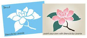 Image Is Loading Magnolia Stencil Flower Twig Branch Floral Cottage Garden