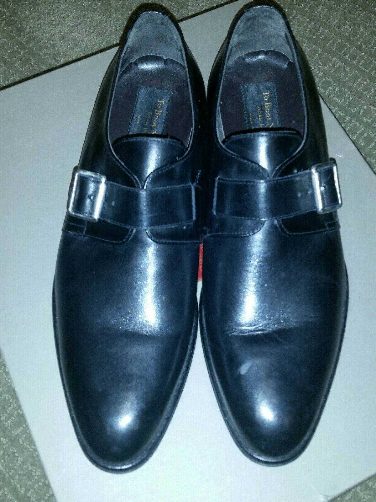 Zapatos de vestir to bota New York De Hombre Negro hechas en Italia Adam Derrick