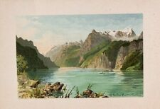 Vierwaldstättersee Gletscher Glacier Schaufelrad-Dampfer Tourismus Panorama Uri