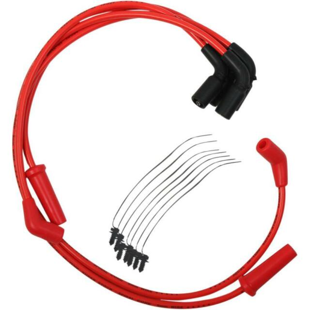 8mm Spark Plug Wire Set Accel Red 171100-R