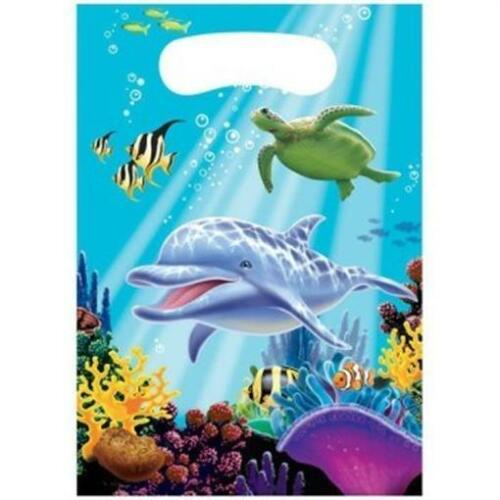 Ocean Party Loot Bags 8 Pack Favor Bag Marine Life Birthday Party Decoration