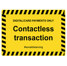 Digital Card Payments Only Contactless Adhesive Vinyl Sign Decal