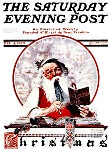Saturday Evening Post Norman Rockwell/'s Chrismas Vinyl Sticker Santa St Nicholas