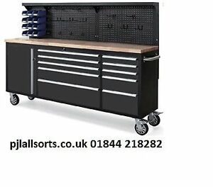 Image is loading New-neilsen-84-inch-YES-7-FEET-LONG-  sc 1 st  eBay & New neilsen 84 inch (YES 7 FEET LONG) Toolbox  Tool Chest On Wheels ...