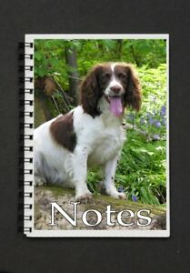 English-Springer-Spaniel-Dog-Notebook-Notepad-with-small-image-on-every-page