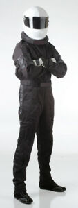 Medium-Black-One-Piece-Single-Layer-SFI-Rated-Driving-Fire-Race-Suit