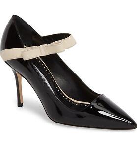 eaffcb4e944a NIB Manolo Blahnik Immaculada Bow Pointy Toe Pump Heel Shoe Black ...